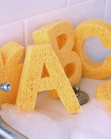 Esponjas de letras