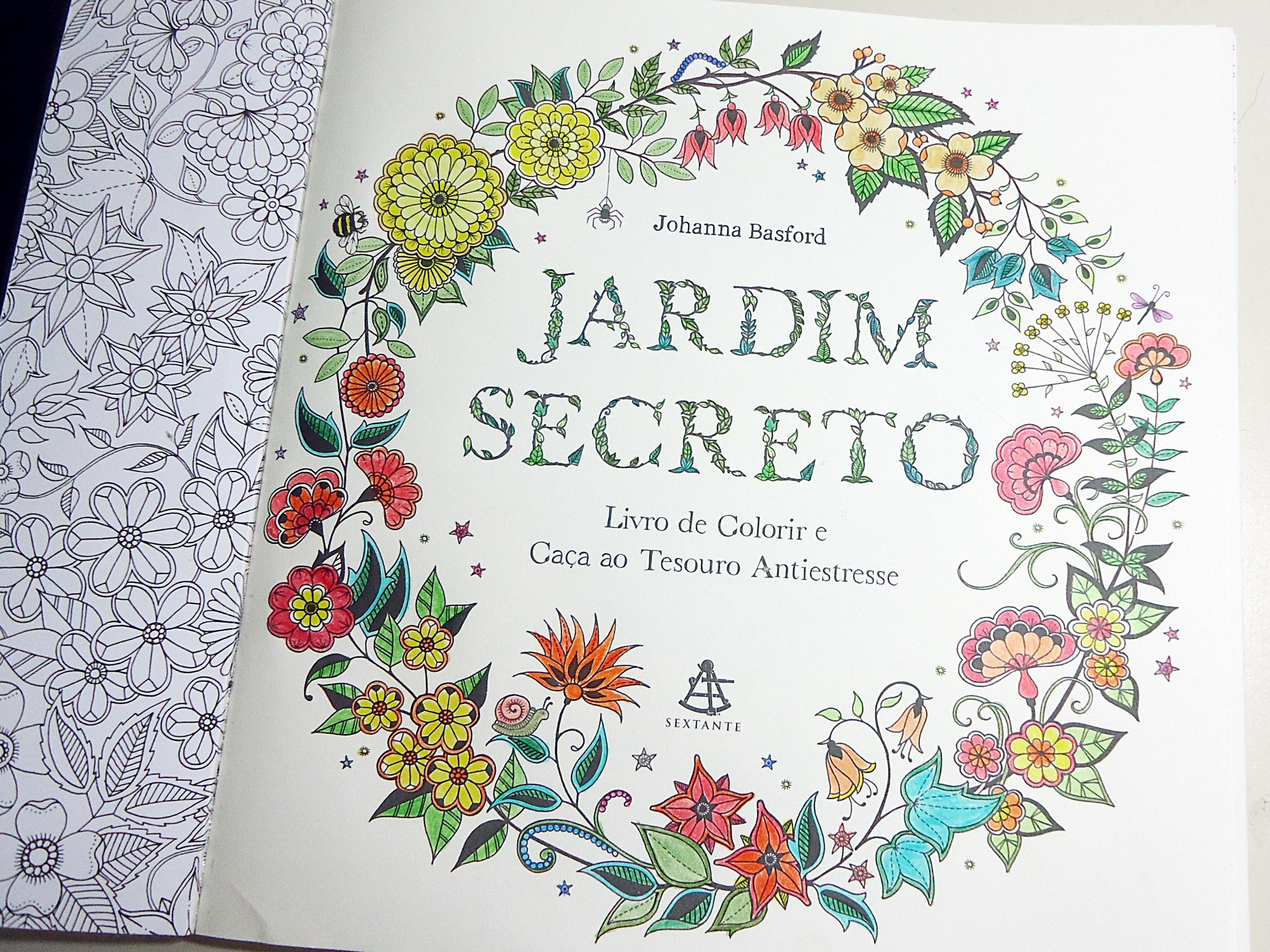 Um mundo mágico para colorir Jardim Secreto  Daniela Santos